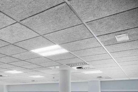 Techos t cnicos y tabiquer a seca para oficina techos registrables hermarta - Falso techo metalico ...